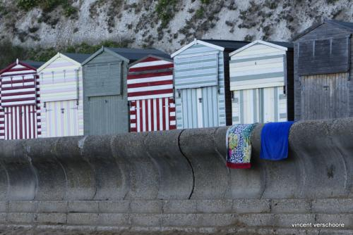 UK, Ramsgate, beach cabins
