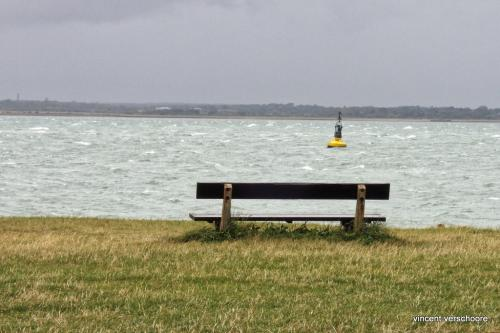 UK, Isle of Wight, bench