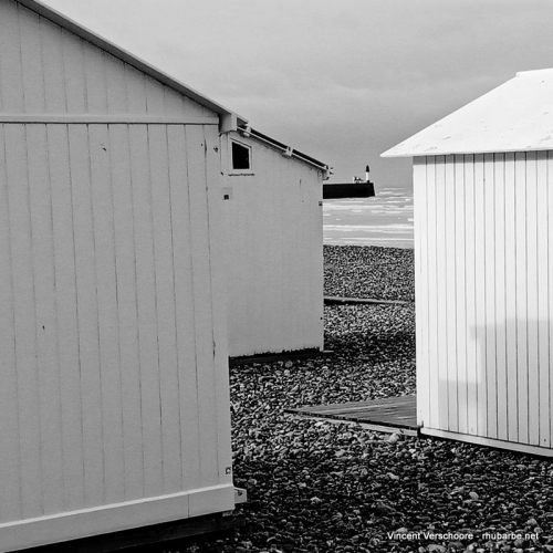 Le Tréport, Mers-les-Bains, Normandie, octobre 2020, Cabanes