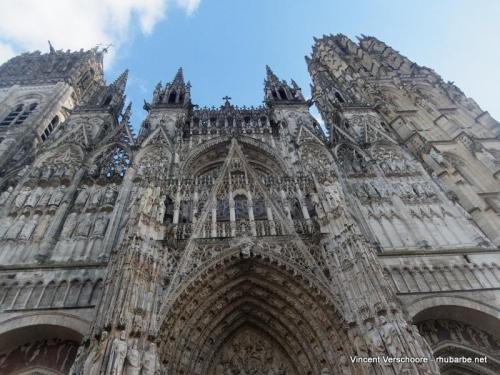 Rouen. Cathédrale Notre-Dame. Facade.