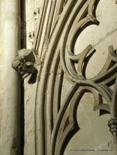 Rouen. Cathédrale Notre-Dame. Intérieur. Détail.