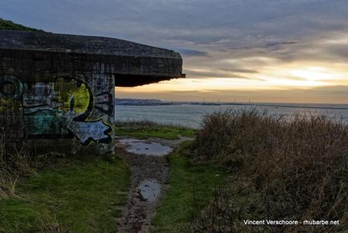 Boulogne-sur-Mer. Digue de la Crèche. Bunker.