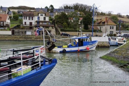 Port en Bessin. Retour de pêche.