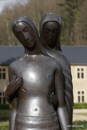 Abbaye d'Orval - sculptures