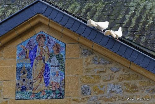Abbaye d'Orval - détail cour des colombes.