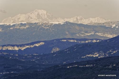 Mont-Blanc depuis le Semnoz dans les Bauges